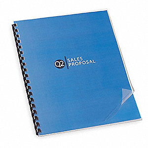 Binding Covers,Plastic,Clear,PK100