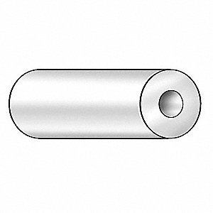 Tube Stock,UHMW-PE,1/4 in.,7/8 in.