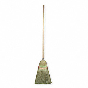 100% Corn Fiber Corn Broom, Overall Length 56""