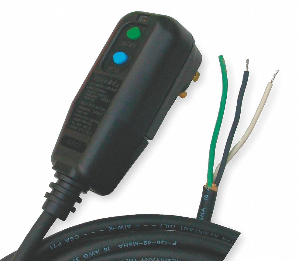 HUBBELL WIRING DEVICE-KELLEMS Plug-In GFCI With Cord