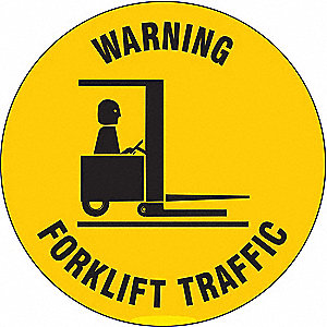 Warning Sign,17 x 17In,BK/YEL,ENG,TRFC