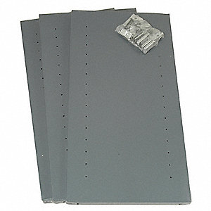 Gray Additional Shelf, 20 Gauge, Steel, Package Quantity 3