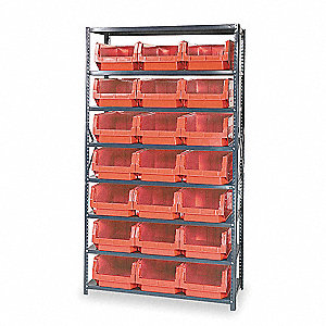 Bin Shelving, 4000 lb. Load Capacity, Total Number of Bins 21