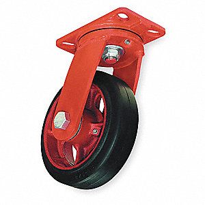 8'' Plate Caster, 670 lb. Load Rating