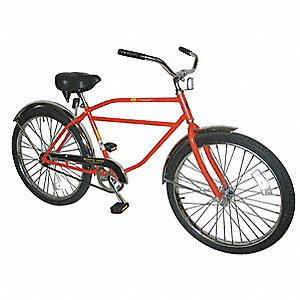 Bicycle,Coaster Brakes,26 In Wheel,Yel