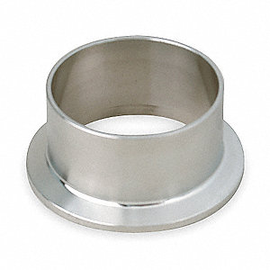 "304 Stainless Steel Ferrule, Butt Weld Connection Type, 2"" Tube Size"