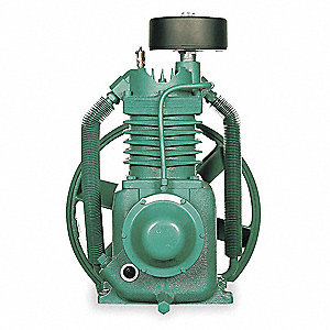 Air Compressor Pump, Splash Lubricated, 5, 7-1/2 HP, 734, 990 Pump RPM, 175 psi Max. Pressure