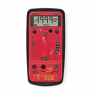 Digital Multimeter, Compact Multimeter Style, 750 Max. AC Volts, 1000