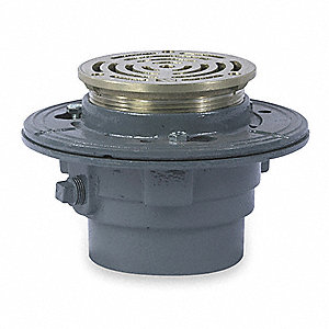 Watts Cast Iron Round Floor Drain No Hub Connection 4