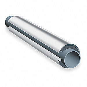 "NBR/PVC Based Elastomeric, Aluminum/Mylar Jacketing Pipe Insulation, 1/2"" Wall Thickness, Pre-Slit,"