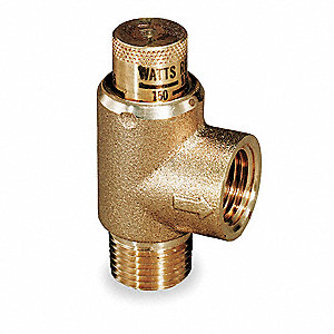 Brass Calibrated Adjustable Relief Valve, FNPT Inlet Type, MNPT Outlet Type