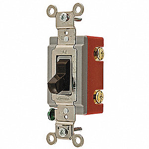 Wall Switch, Switch Type: 2-Pole, Switch Function: Maintained, Style: Toggle
