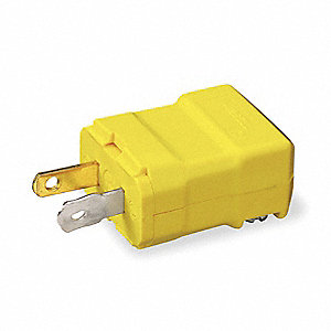 Straight Blade Plug, 15 Amps, 125VAC Voltage, NEMA Configuration: 1-15P, Number of Poles: 2
