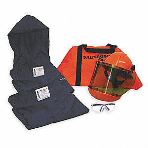 Navy XL Flame-Resistant Coat/Overpants Kit, 12 cal./cm2 ATPV Rating, 2 Hazard Risk Category (HRC)