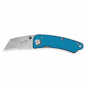 "Carbon Steel Folding Utility Knife,6-1/4"" Overall Length,Number of Blades:1"