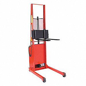 "Stacker, 1000 lb., Fork Width 3"", Fork Length 30"", Lifting Height Max. 56"""