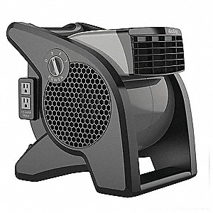 Portable Blower Fan,120V,350 cfm,Gray