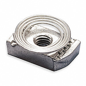 Channel Nut w/ Top Spring,3/8-16 In