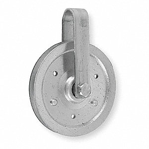 Cable Pulley,Steel,L 4 In