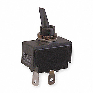 Toggle Switch,SPST,2 Conn.,On/Off