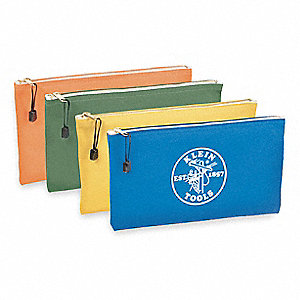 Canvas Zipper Bag Set, General Purpose, Number of Pockets: 4, Orange/Olive/Yellow/Royal Blue