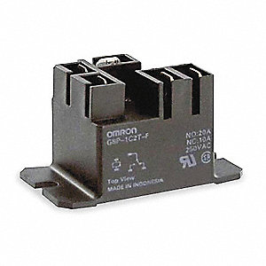 Relay,5Pin,SPDT,20A NO/10A NC,24VDC