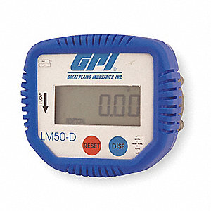 Lube Meter Display,Oval Gear,1/2 In FNPT
