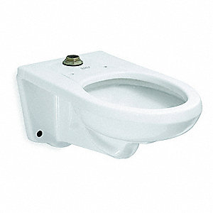Toilet Bowl, Wall Mounting Style, Elongated, 1.28 to 1.6 Gallons per Flush