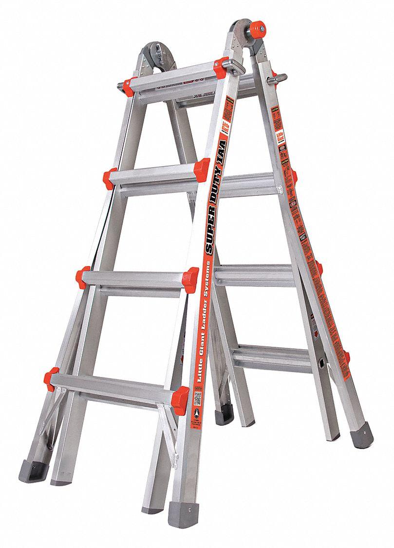 Little Giant 17 Ft Aluminum Multipurpose Ladder 375 Lb