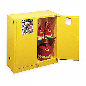 Flammable Safety Cabinet,30 Gal.,Yellow