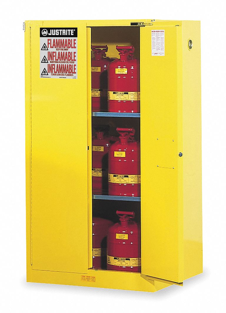 Justrite 60 Gal Flammable Cabinet Self Closing Safety