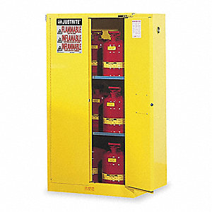 Flammable Safety Cabinet,60 Gal.,Yellow