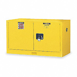 Flammable Safety Cabinet,17 Gal.,Yellow