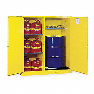 Flammable Safety Cabinet,115 Gal.,Yellow