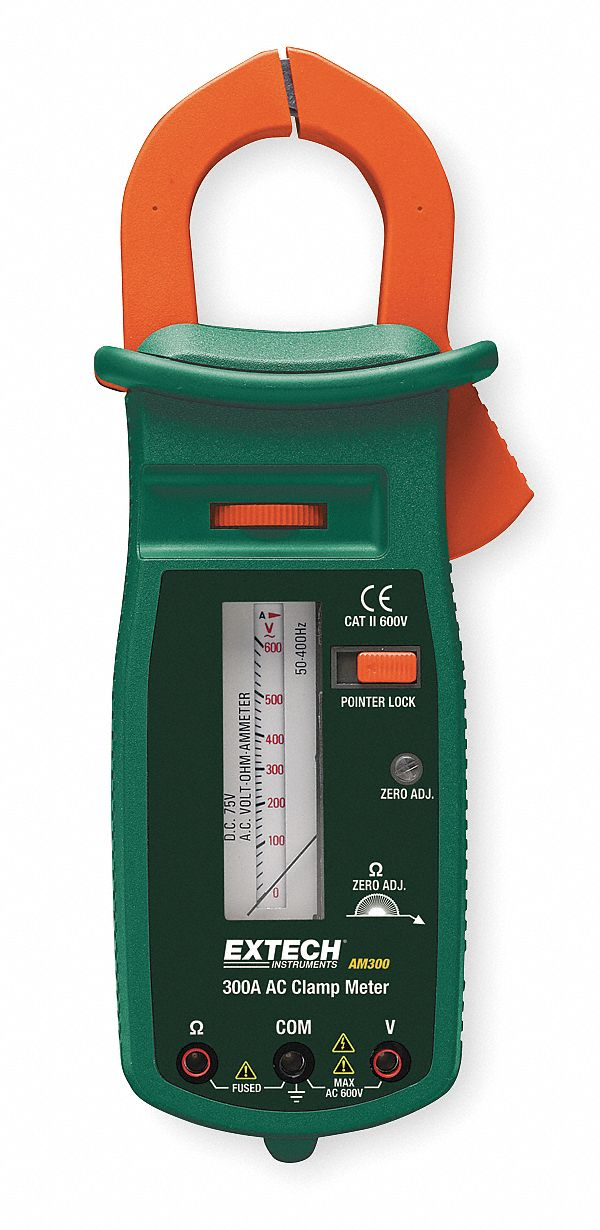 Analog Clamp Meter : Extech clamp on analog meter quot mm jaw