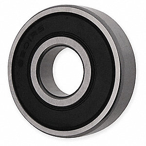"Radial Ball Bearing, Double Sealed Bearing Type, 0.7500"" Bore Dia., 1.6250"" Outside Dia."