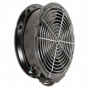 "Round Axial Fan, 6-7/9"" Width, 6-7/9"" Height, 6"" Fan Dia., 115VAC Voltage"