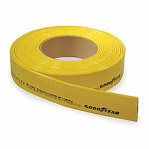 Discharge Hose,3 In x 300 ft,Yellow