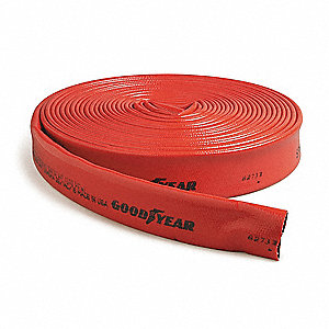 Discharge Hose,3 In x 300 ft,Red