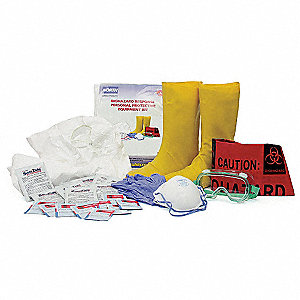 Biohazard Response Kit, Size:  XL, Number of Components: 9