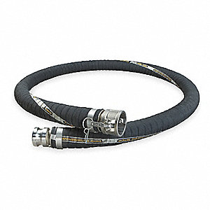 Chemical Hose,3 In IDx10 Ft,200 PSI Max
