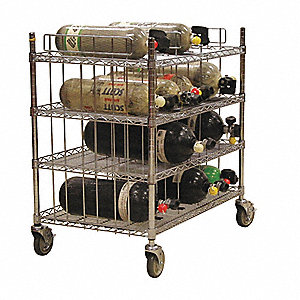 Mobile Bottle Cart,Maximum 16 Bottles