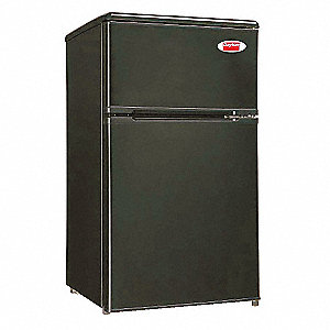 Refrigerator And Freezer, Black