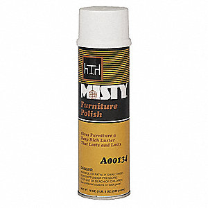 Furniture Cleaner and Polish, Lemon Fragrance, 19 oz. Aerosol Can, 12 PK