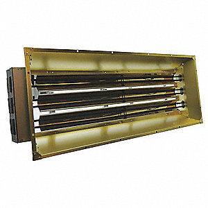 Electric Infrared Heater, Indoor, Ceiling/Suspended, Voltage 208, Watts 13,500