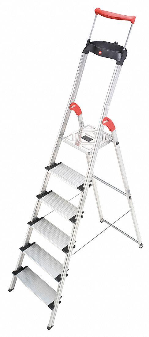 Hailo Aluminum Platform Stepladder 6 Ft 1 Quot Ladder Height