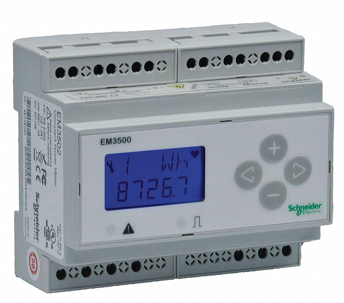 Schneider Electric Power Meter 90 600vac Dc Input Voltage