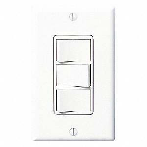 Switch,3-Function,White ,120V