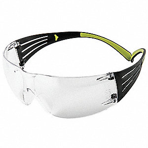 Safety Glasses,Unisex,Clear,Black/Neon