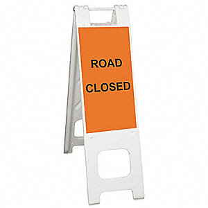 Barricade Sign,Road Closed,45 in. H